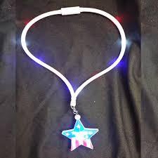 light up patriotic led pendant necklace lanyard sureglow