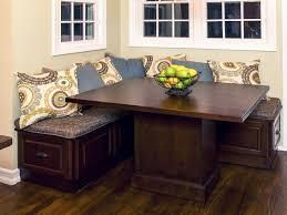 corner kitchen table with storage bench storage decoration