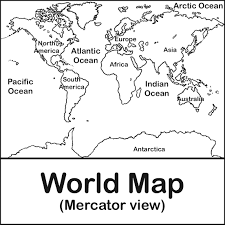 Blank World Map by Labeled World Map Clipart Clipartfest