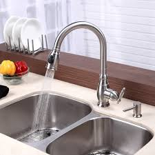 Stainless Steel Faucets Kitchen by Kitchen Faucet Kraususa Com