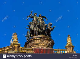 statue of a panther drawn quadriga with dionysos greek god of the