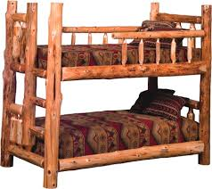 Cedar Log Bed Kits Bunk Bed Rustic Furniture Mall By Timber Creek - Log bunk beds