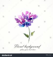 Lilac Flower by Lilac Flower Watercolor Floral Illustration Floral Stock Vector