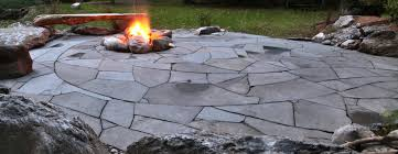 Firepit Patio Indian Run Landscaping Flagstone Patio With Pit