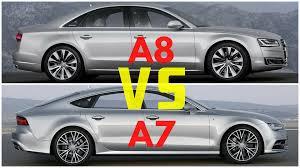 audi size 2016 audi a7 vs audi a8 comparison