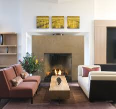 modern fireplace surrounds with tile surround dark stained wood