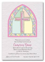 religious invitations shimmery pink stained glass window religious invitations