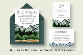 wedding invitation format mountain wedding invitation suite invitation templates