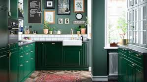 ikea colored kitchen cabinets bodbyn green kitchen ikea