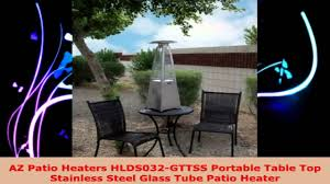 tube patio heater az patio heaters hlds032 gttss portable table top stainless steel