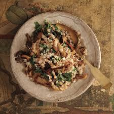 farro pilaf with mushrooms