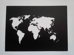 Wall Art World Map by World Map Stencil Plastic Reusable Painting Art Supply