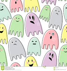 halloween white background happy halloween seamless vector pattern with colorful ghosts on