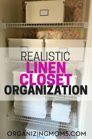Closet Organizing Realistic Linen Closet Organization Organizing Moms