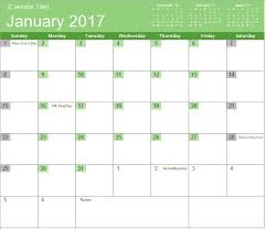 Excel Monthly Calendar Template 2017 Monthly Calendar Excel Templates For Every Purpose