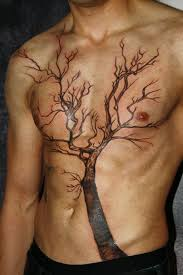 amazing tree separating sun and moon tattoo tattooimages biz