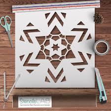 snowflake mandala style wall stencil reusable unique wall