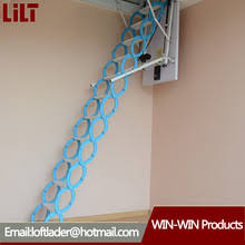 automatic electric telescopic loft ladder automatic electric