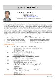 Best Qa Resume 2015 by Edwin Cv For Qa Qc Manager