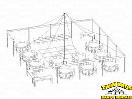 40x40 pole tent layouts pictures diagrams rentals
