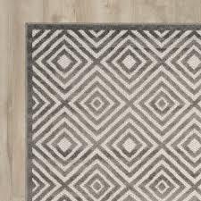 brayden studio mcgruder cream gray indoor outdoor area rug