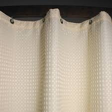 Polyester Shower Curtains Kartri Executive Waffle Retardant Polyester Shower