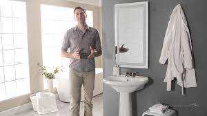 afina illume led backlit rectangular bathroom mirror product