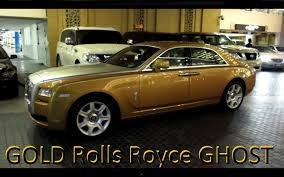 roll royce fenice golden rolls royce ghost dubai mall youtube