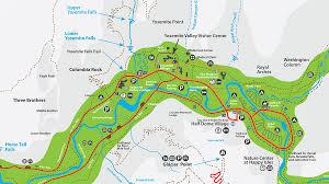 Map Of Yosemite The Yosemite Peregrine Lodge Hikes In Yosemite Valley Lower