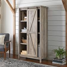 amazon com better homes and gardens storage cabinet rustic gray
