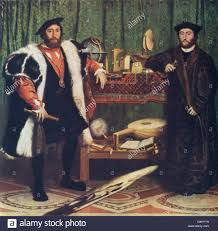 this painting by hans holbein titled the ambassadors is
