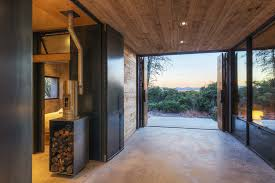 Bedroom And Kitchen Casa Caldera Built From Volcanic Scoria Concrete By Dust Homeli