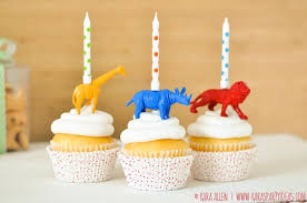 safari cake toppers kara s party ideas diy jungle animal candle cupcake toppers