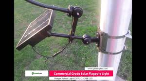 Flag Pole Lights Solar Powered Commercial Solar Flagpole Light Polepal Patriot Light Flag
