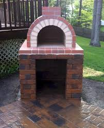 a perfectly constructed diy wood fired brick pizza oven this oven