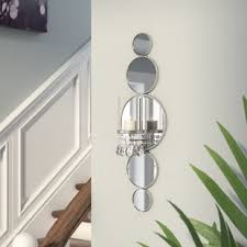 Mirrored Wall Sconce Glam Candle Sconces You Ll Wayfair
