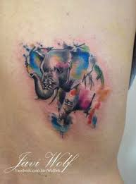 water color elephant tattoo aj wicked ways san antonio tx