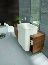 contemporary minimalist bathroom sink decor ideas at laundry