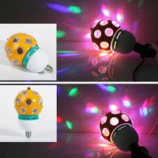 Disco Light Bulb E27 220v Rgb Led Auto Rotating Stage Light Dj Light Disco Light