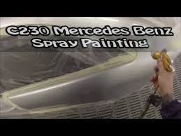 c230 mercedes benz spray painting youtube