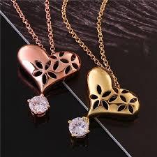 design necklace charm images Wholesale simple necklace designs gold plating heart shape pendant jpg