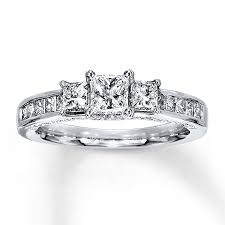 kay jewelers diamond engagement rings kayoutlet 3 stone diamond ring 1 1 2 ct tw princess cut 14k
