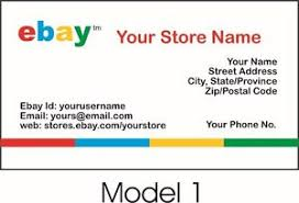 Personalized Business Cards 1000 Ebay Seller Personalized Business Cards Free Shipping Glossy
