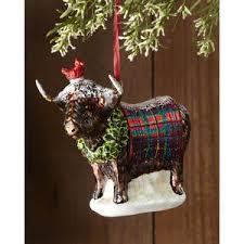 mackenzie childs highland cow ornament polyvore