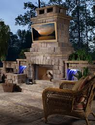 backyard fireplace with tv home outdoor decoration