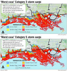 Lsu Map New Storm Surge Map Predicts Worst Case Scenarios For South