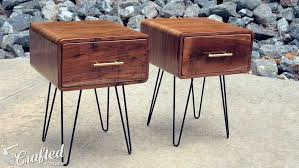 Build Wood End Tables by Mid Century Modern Walnut End Table How To Build Woodworking