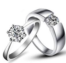 his and hers white gold wedding rings amazing design real solid 18k 750 white gold rings