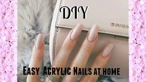 easy diy acrylic nails kiss acrylic nail kit youtube