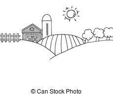 outline country farm banner coloring page outline of clip art